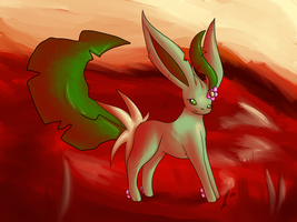 Sunny the Leafeon by jaclynonacloud