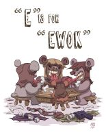 E Is For Ewok by OtisFrampton