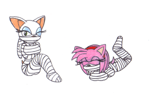 tape bound rouge and amy by metalzaki