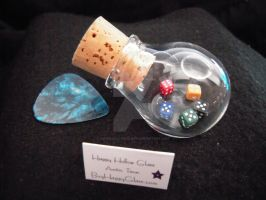 Mini Glass dice globe ~ by HappyHollowGlass