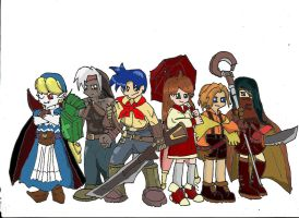 Wild ARMs 2 Party by Riofird
