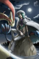 [Pkmn] Wallace and Milotic by Edo--sama