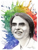 Carl Sagan by TheInklingGirl
