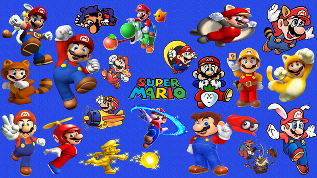 Super Mario Evolution Wallpaper by happydreamer96