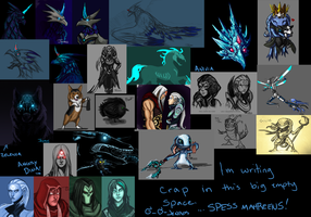 League of Darksiders and other crap sketch dump. by JenRos