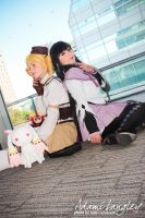 Mami and Homura by adami-langley