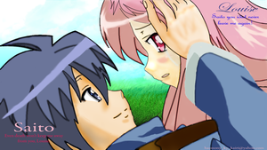 Saito and Louise by Harmony-KH-Kairi