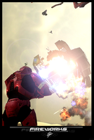 Fireworks of Halo by CporsDesigns