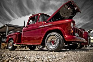 old red chevy pick up by AmericanMuscle