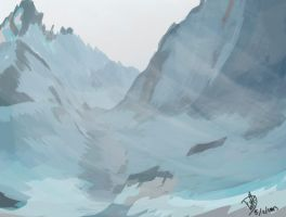 Geography of Auryv 1 Mountains by Onnessa