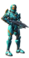 My Halo 4 Spartan by StarscreamsGirl