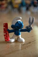 Barber Smurf by kluxorious