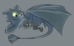 HTTYD - Watching Over. by batcii