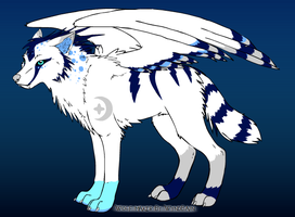My Winged Wolf Form by WingedWhiteWolf