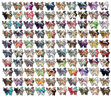 100 Cats layered adopts by Fenny-Fang