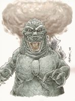 Godzilla marker drawing by NickMockoviak
