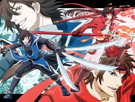 basara-blue and red by kiriha2929