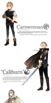 Seiken Ranbu: Carnwennan, Caliburn and Durandal by ROSEL-D