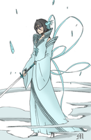 Rukia BanKai by M by MarioTheArtistM