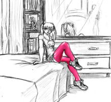 Pink Tights by DPRagan