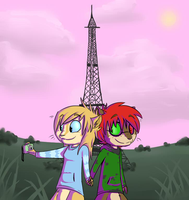 Zeke and Wendy at Paris - COLLAB by Amy1Jade2Wendy3