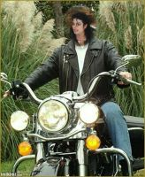 Michael jackson on a motorcycle by Becky123190