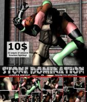 Stone Domination - Front Cover by Realms-And-Void