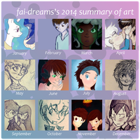 2014 Summary of Art by fai-dreams