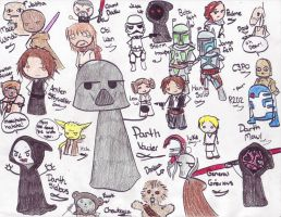 Star wars chibis by OUATIM