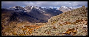 Crinkle Crags and Bowfell by jonathanknowles