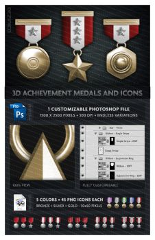3D Medals and Icons by dezinico