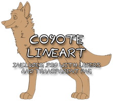 Coyote/Canine Pay-To-Use Lineart by starboat