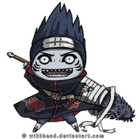 Kisame with Samehada by wikkhead