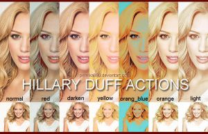 Hillary Duff Actions by perelka880