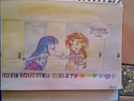 MLP Equestria Girls 'You Must Be New Here!' by HamaBeadsPonies
