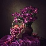 Still life in purple colors by Daykiney