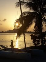 Cancun, Mexico waterfront at sunset by DarkPhoenix36