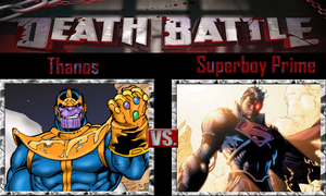 Thanos vs Superboy Prime by SonicPal
