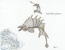 Pelagic Xenarthra Challenge 3 ~ Dragonwhal by Pterosaur-Freak