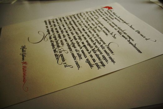 Gothic calligraphy by DeRupe