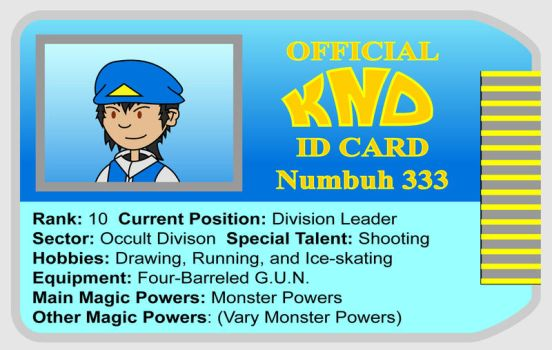 Numbuh 333's ID by Redtriangle