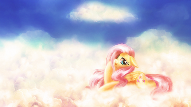 Dreamy Fluttershy by macalaniaa