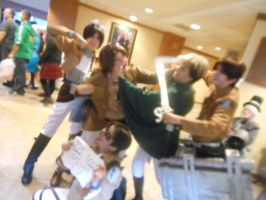 NDK 2014 - AOT - Eren(s)vsJeanvsLevi(s)  and Marco by peppermix14
