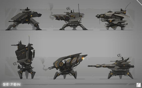 Project 7-Mech Thumbnails by JustMick