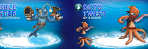 Skylander OCs: SWAP Force - Water by Proceleon