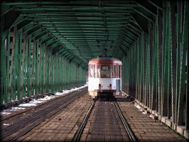 Gdanski bridge nr.3 with tram by Norjaz