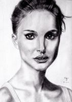 Natalie Portman by tanjadrawing