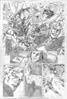 Teen Titans 71 p.4 pencils by Cinar