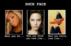 Duck Face - How You Really Look by codebreaker2001