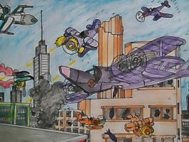 Melbourne Air Battle by Luke-The-Spook